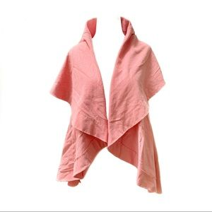 Karen Styl Draped French Terry Vest Peach OS